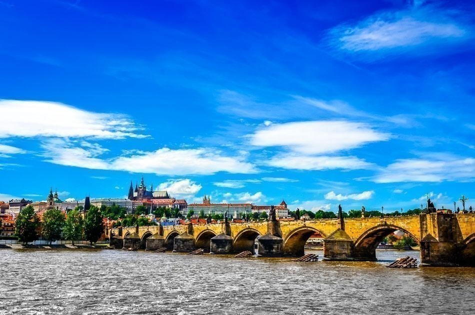 View of Charles Bridge and Prague Castle, Czech Republic | Prague Travel Tips