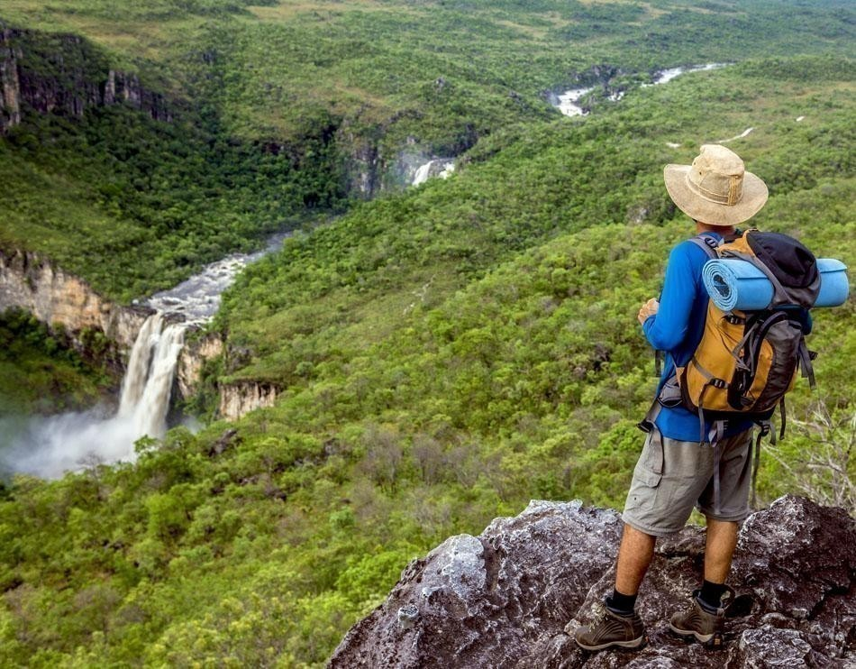 Waterfall in Chapada dos Veadeiros National Park   Brazil Travel Guide