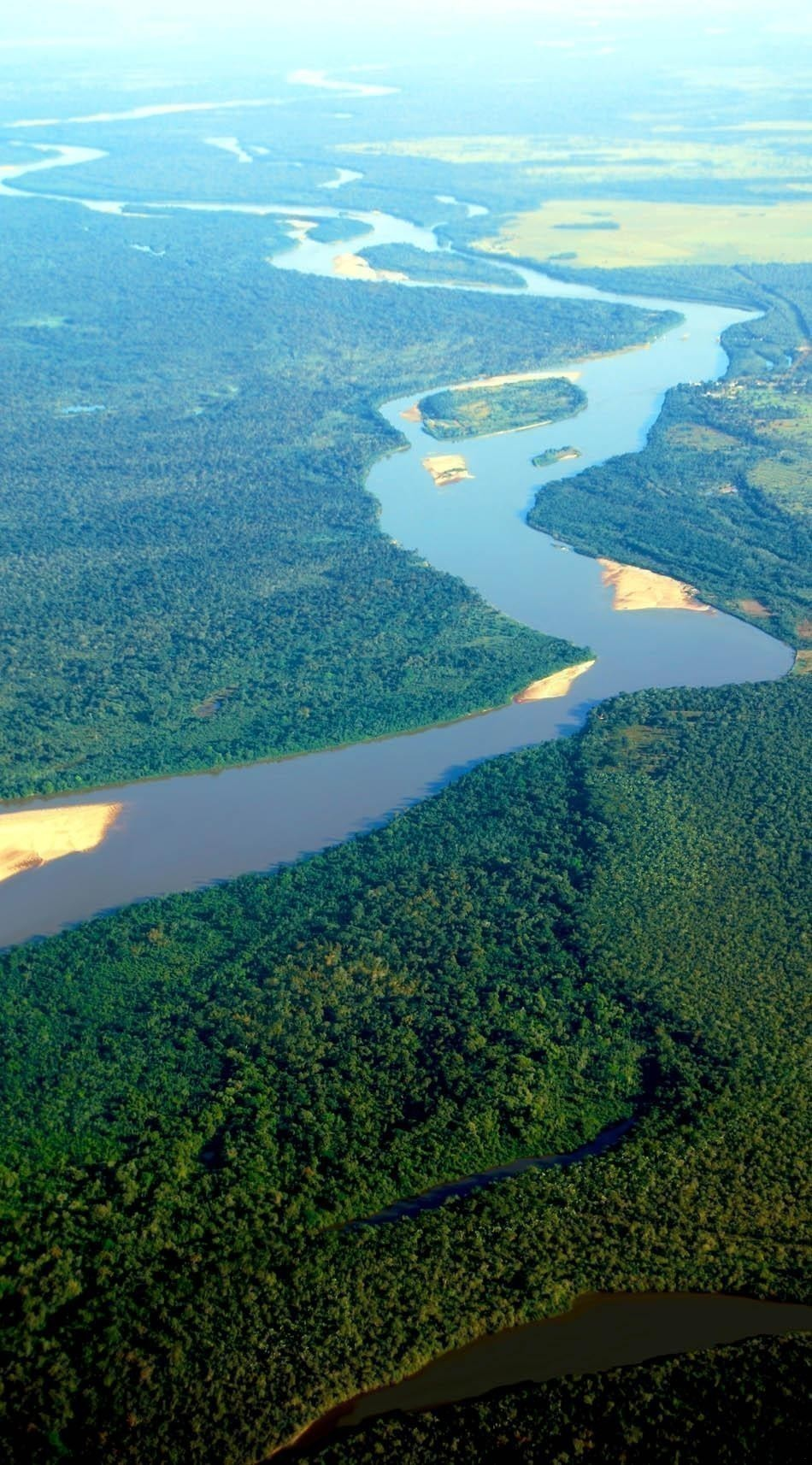 erial view of rainforest at the Araguaia River on the border of the states of Mato Grosso and Goias | Brazil Travel Guide