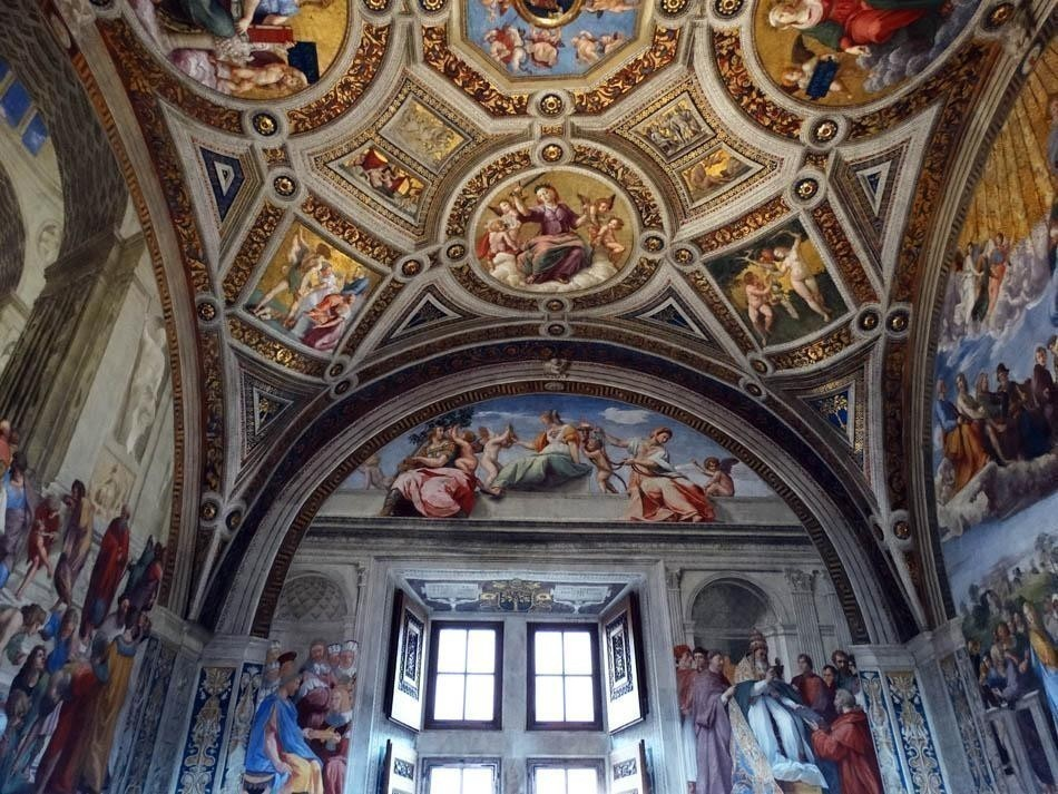 Stanza della Segnatura, Vatican Museums   What to do in a rainy day in Rome - the Eternal City