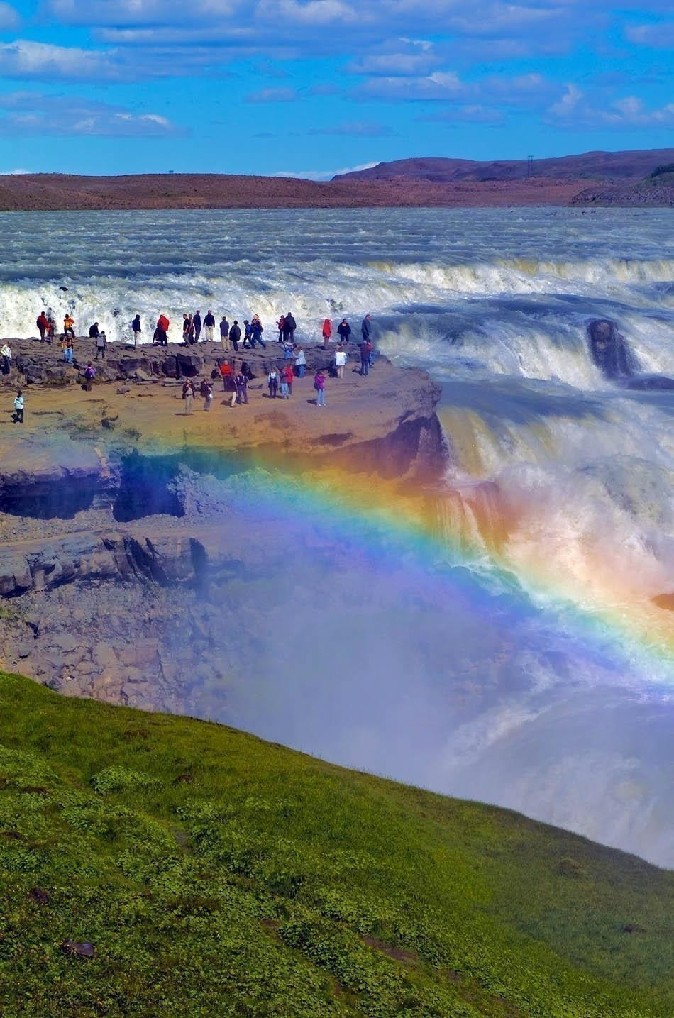 Amazing Gullfoss Falls and rainbow in Iceland | Iceland Travel Guide