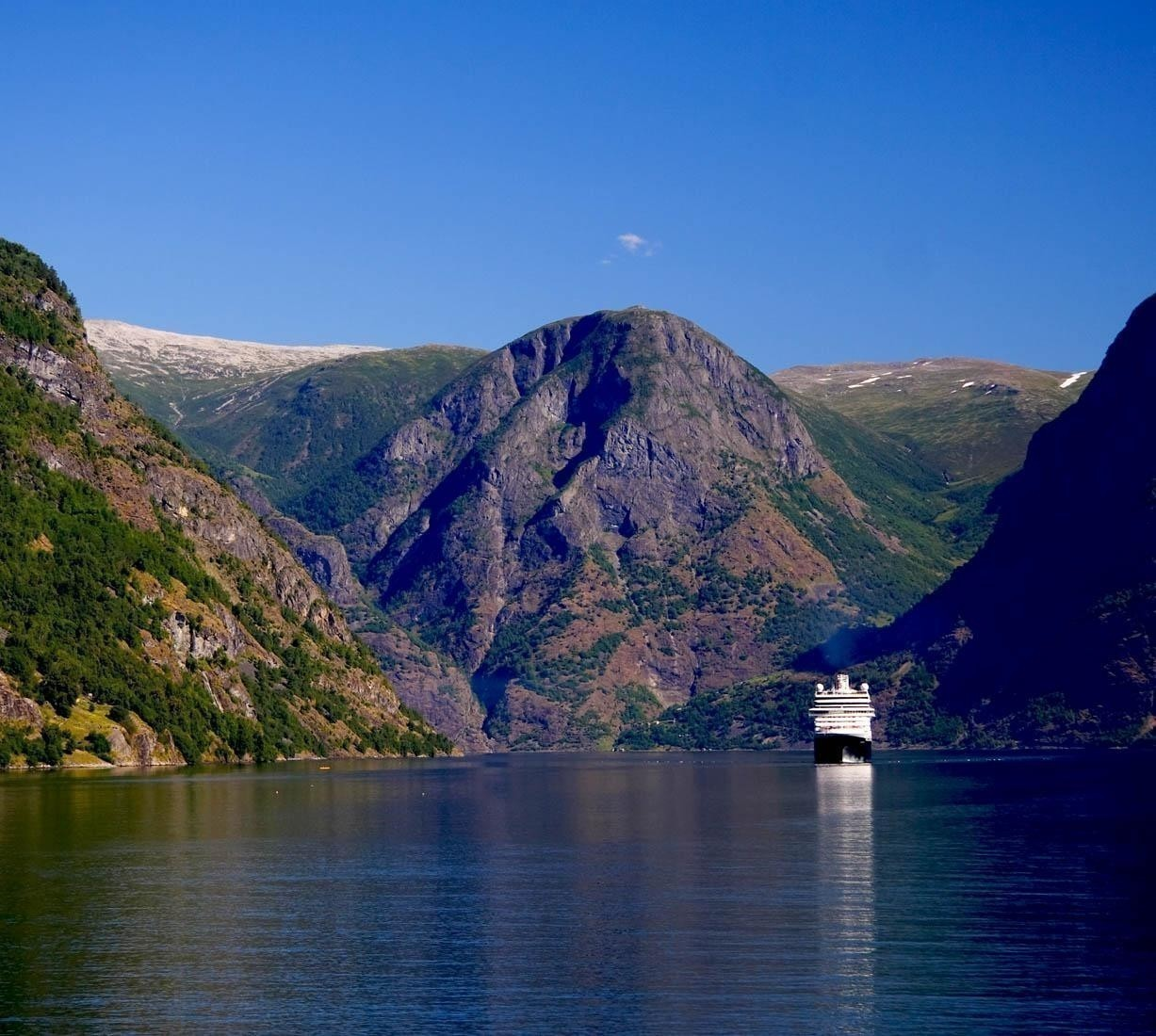 Cruise Ship on the Fjord Sognefjorden | Norway Travel Guide