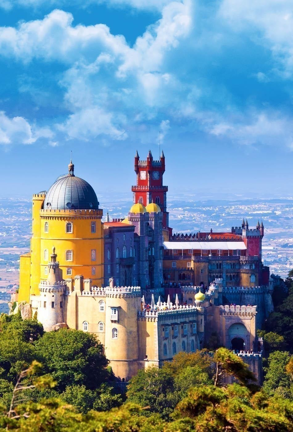 Pena National Palace in Sintra, Portugal | 10 Most Beautiful Castles in Europe