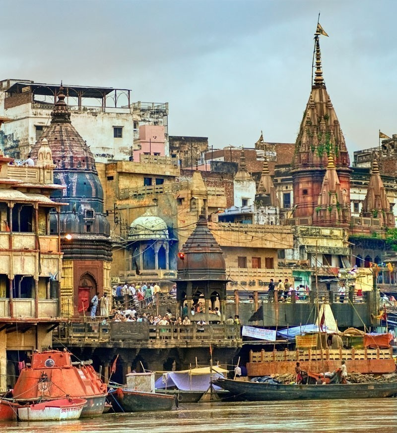 View to Manikarnika Ghat on Ganges river, Varanasi | Your Complete Travel Guide to India