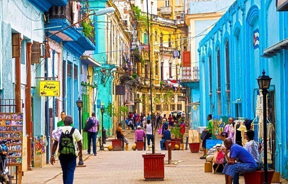 Colorful old buildings in Havana, Cuba   10 of the Most Colorful Cities in the World