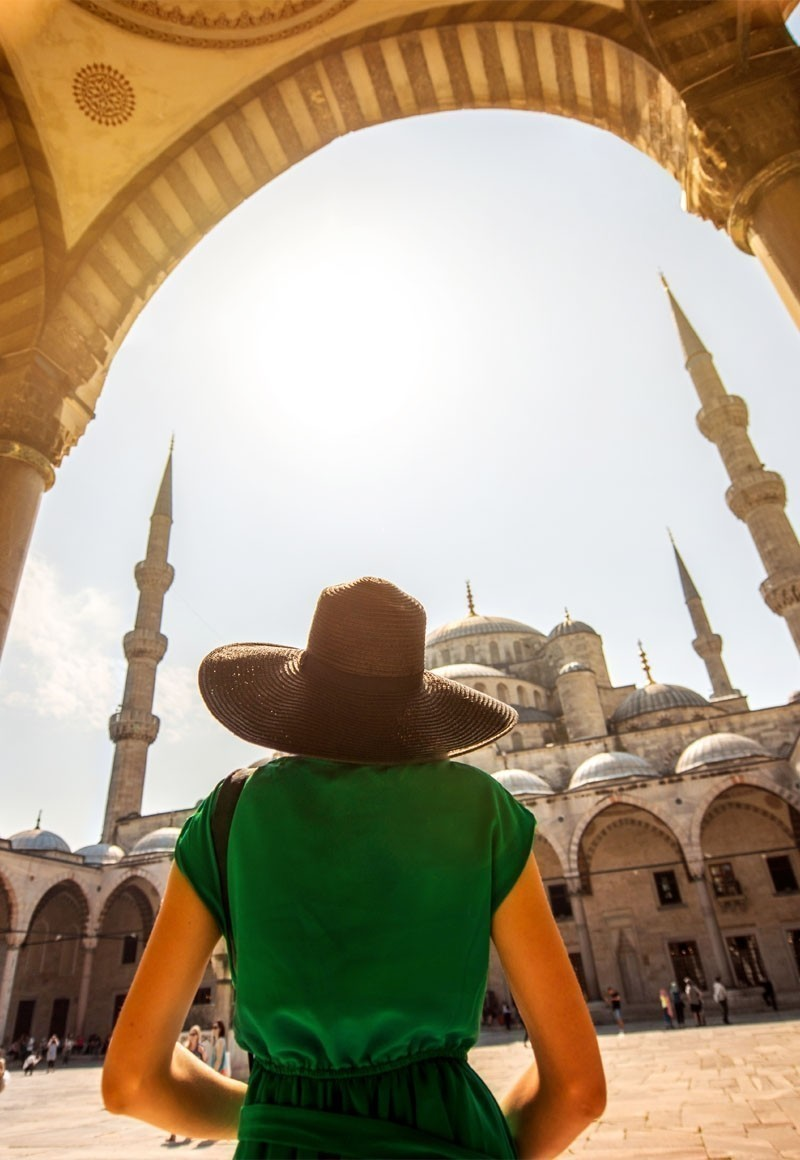 Officially the Sultan Ahmed Mosque, but fondly called the Blue Mosque due to the beautiful blue tiles adorning its interiors, this architectural heritage is Istanbul's most photogenic site. | The Ultimate 3-Day Itinerary for a trip to Istanbul