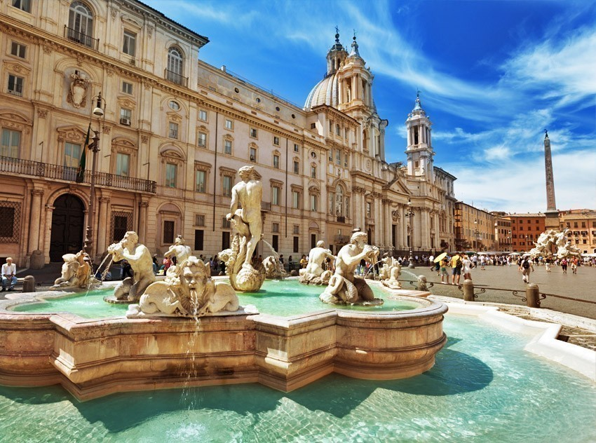 Amazing picture of Piazza Navona, Rome | TOP 10 World-famous City Squares