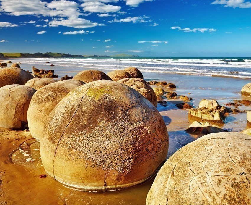 Famous Moeraki Boulders, South Island | 7 Awesome Things to Do in New Zealand