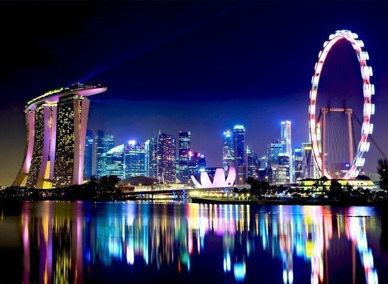Singapore City Skyline at night | 10 Must-Visit Cities in Asia