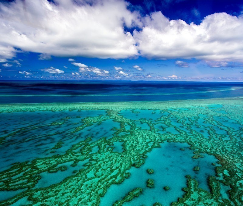 View over the Great Barrier Reef, Queensland, Australia | 10 Wonders Of The World You Have To Visit