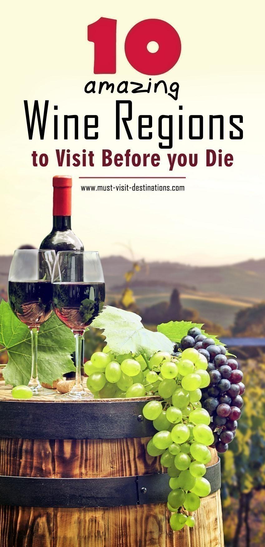 10 Amazing Wine Regions to Visit #wine #travel