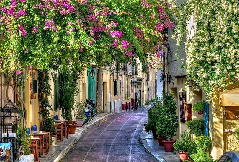 Traditional houses in Plaka area under Acropolis Athens Greece | 10 of the Cheapest Cities You Must Visit in Europe