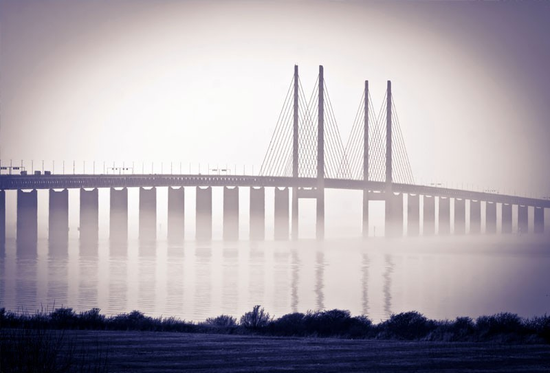Oresundsbron bridge between Denmark and Sweden. | TOP 10 Most Amazing Tourist Attractions in Copenhagen