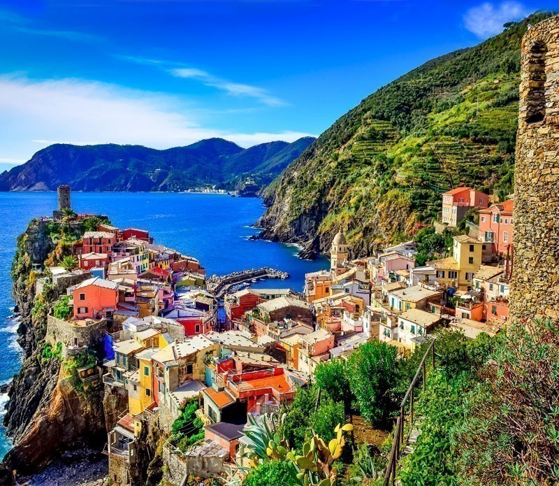 Scenic view of colorful village Vernazza, Cinque Terre | A visit to the 5 Towns of the Cinque Terre - Discover Italy