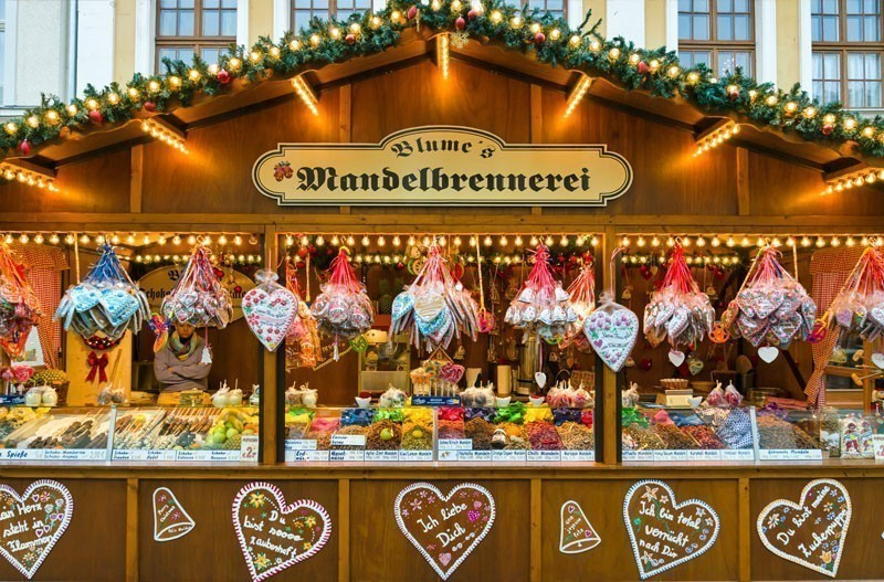 Christmas market in the old town of Potsdam. Selling traditional sweets and gingerbread | 10 Best Christmas Markets in Germany