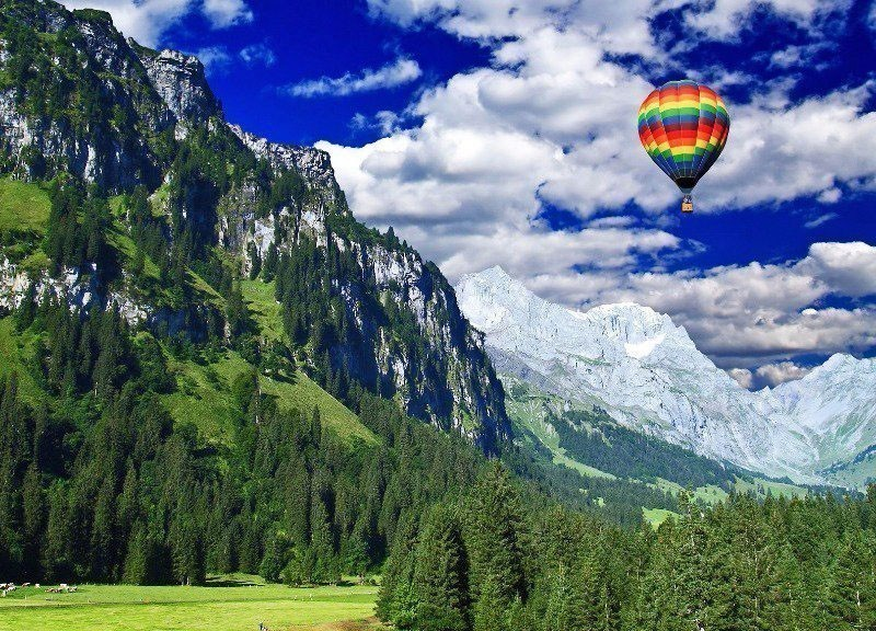 Enjoy a Hot Air Balloon Ride in Gstaad, Switzerland | 10 Best Hot Air Balloon Rides Around The World