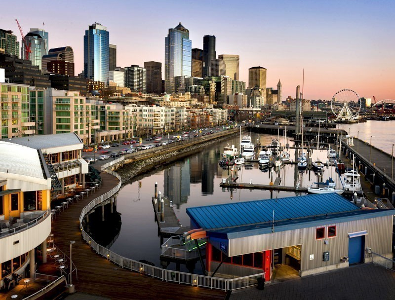 Beautiful Seattle Waterfront at Sunset   TOP 10 Places To Travel in July