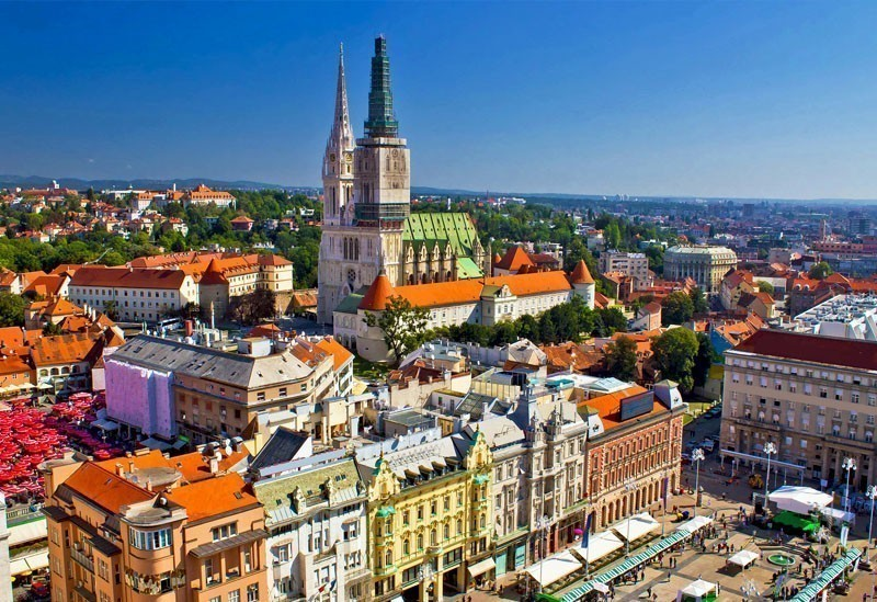 Aerial View of Zagreb Main Square, Croatia     |    TOP 10 Places To Travel in June