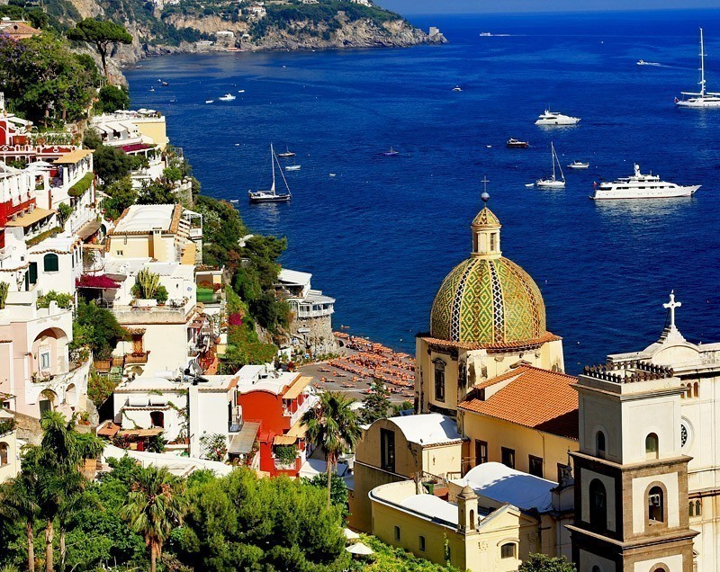 View of Famous Positano on the Amalfi Coast | Exploring The Top Attractions Of The Amalfi Coast