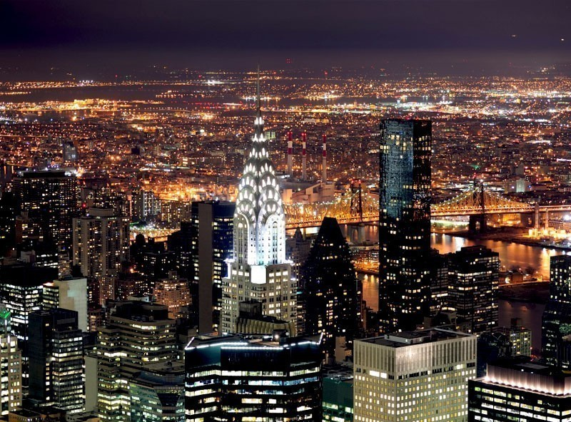 Chrysler Building at night in Manhattan, New York City | TOP 10 Tourist Attractions in New York City