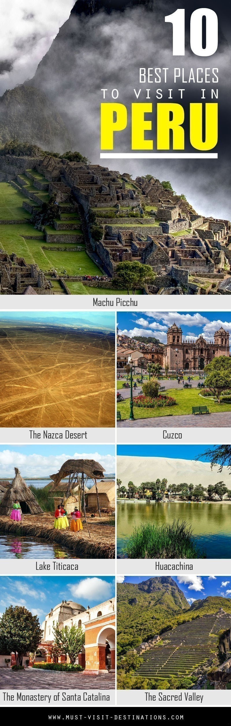 10 Best Places You Must Visit In Peru #travel #Peru