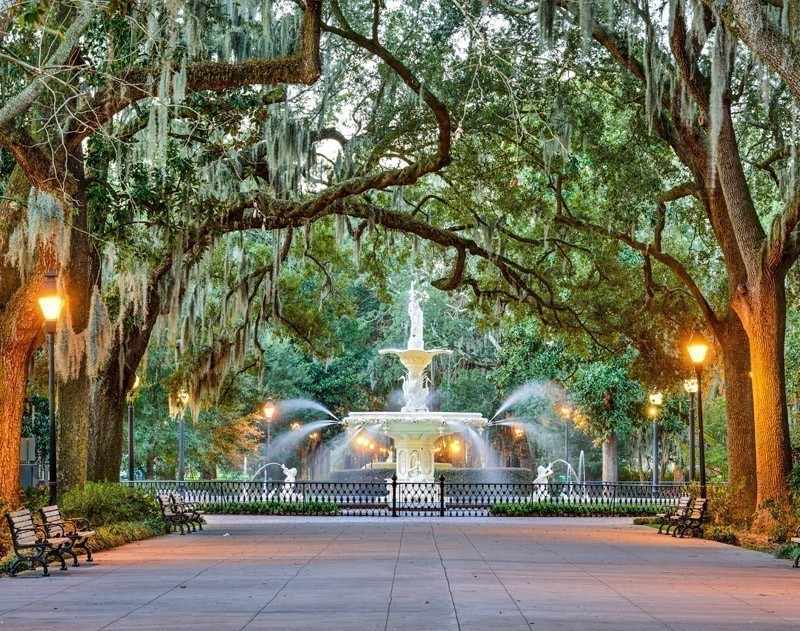 Amazing Savannah, Georgia, USA at Forsyth Park Fountain | 10 Best Places To Visit In Georgia US
