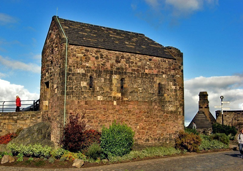 St. Margaret's Chapel,the oldest building in Edinburgh Castle, Scotland   What to Do in Edinburgh in 3 Days