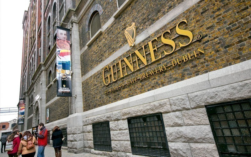 The Guinness Storehouse Brewery at St. James Gate. Guinness brewery was founded in 1759 in Dublin, Ireland, by Arthur Guinness | What to Do in Dublin in 3 Days