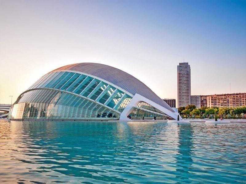 Beautiful City of the Arts and Sciences, modern symbol of Valenciadedicated to arts, science and nature | What to Do in Valencia in 3 Days