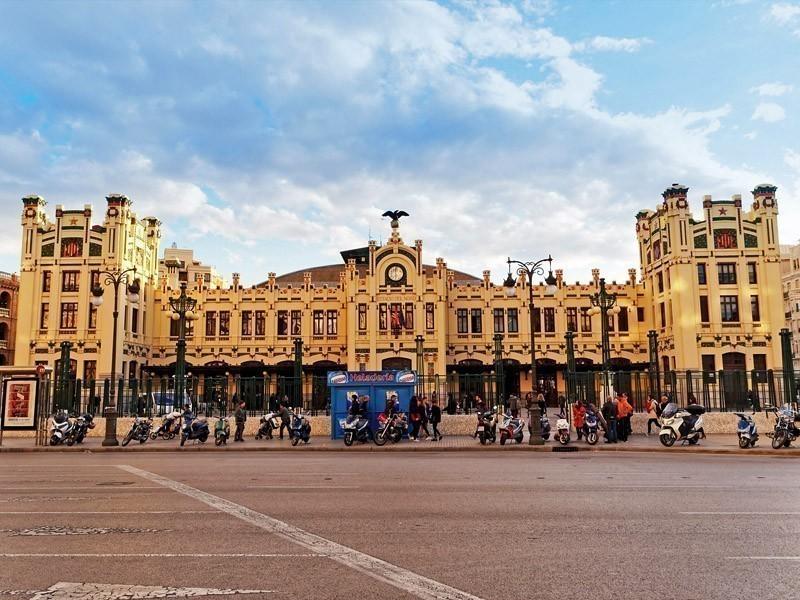 The North Train Station (Estacio del Nord) facade, in Valencia, Spain | What to Do in Valencia in 3 Days