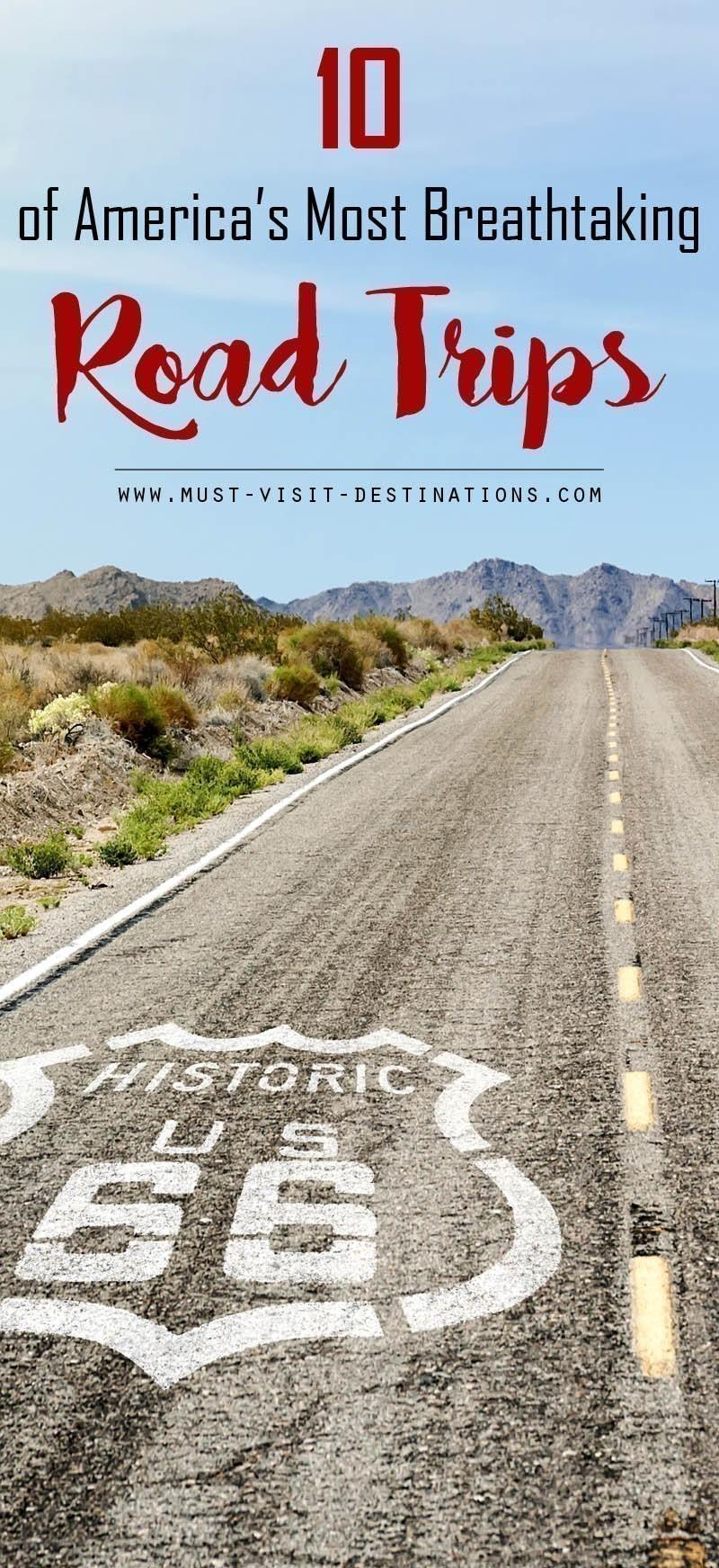 10 Of America's Most Breathtaking Road Trips #travel #RoadTrip