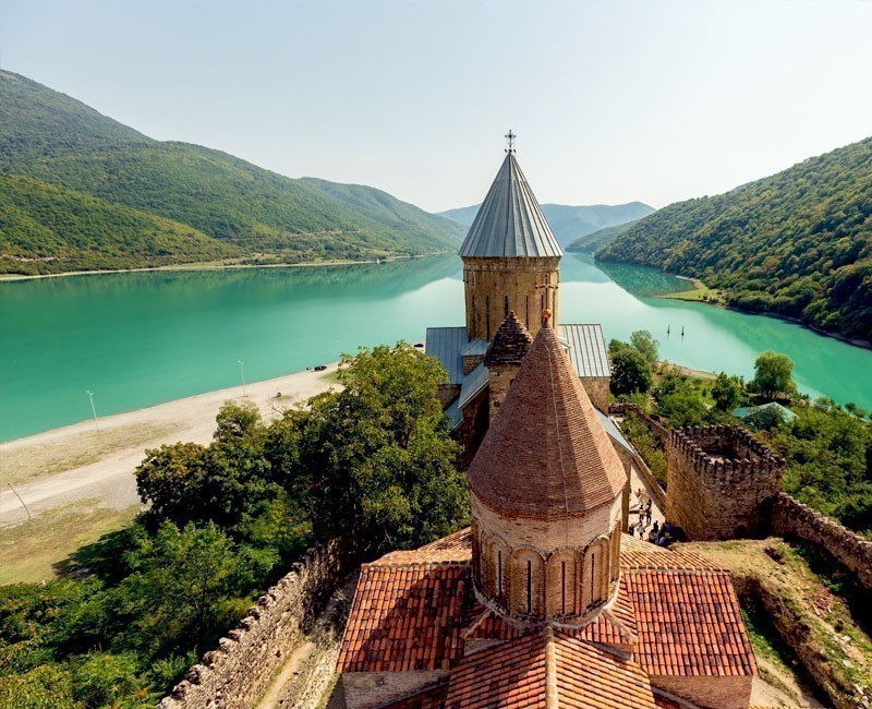 Ananuri Castle is a complex in Georgia were two rivers come together – Aragvi and Vedzathevi | Why You Need to Visit Georgia and Where to Go