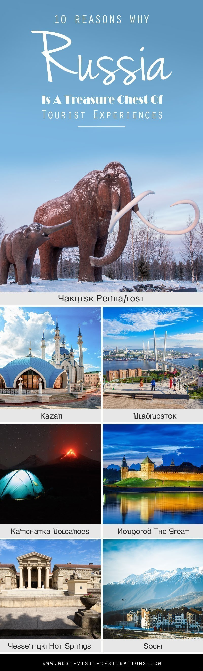10 Reasons Why Russia Is A Treasure Chest Of Tourist Experiences #russia #travel
